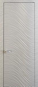 Бяла врата за баня, произведена от ПВЦ материал